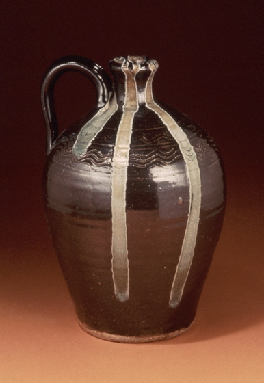 Stoneware jug with akaline-glaze glass runs by Burlon Craig, courtesy National Endowment for the Arts