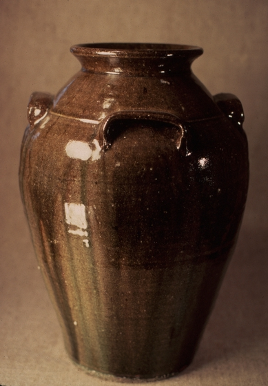 Stoneware jar with akaline-glaze glass runs by Burlon Craig, courtesy National Endowment for the Arts
