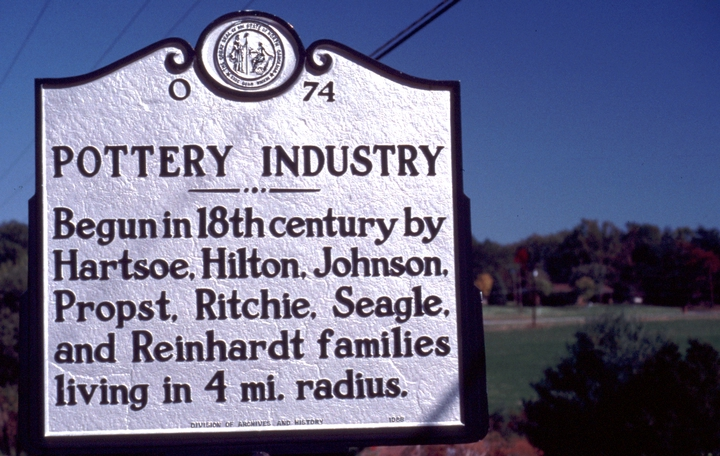 North Carolina pottery marker, photograph by Mary Anne McDonald, courtesy North Carolina Arts Council, Folklife Program