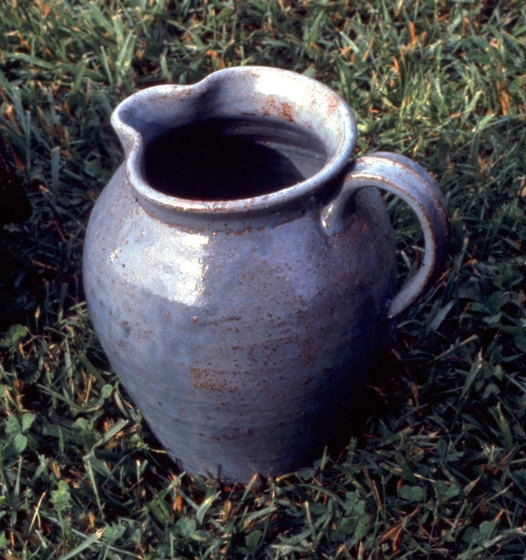 Pitcher made by Burlon Craig at his pottery, Vale, North Carolina, photograph by T. Jackson, courtesy North Carolina Arts Council, Folklife Program