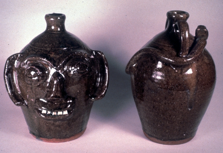 Face jugs by Burlon Craig, Vale, North Carolina, photograph by Charles G. Zug III, courtesy North Carolina Arts Council, Folklife Program