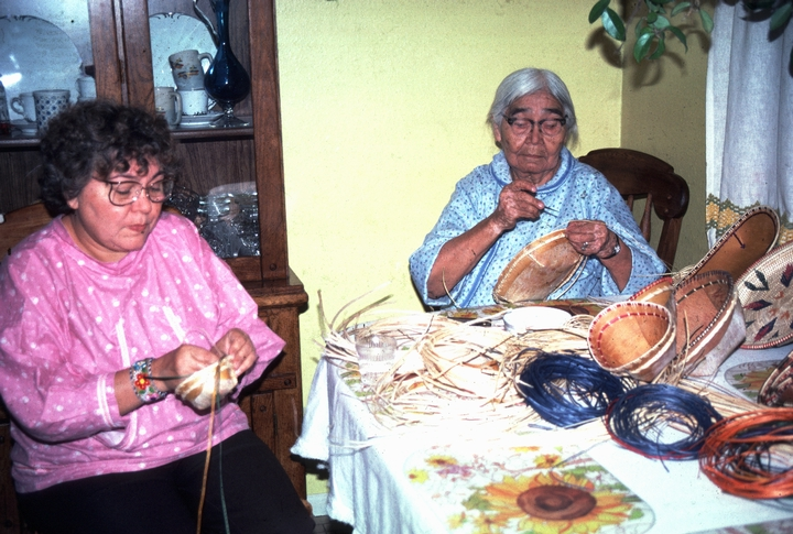 Belle Deacon (right) at work, courtesy National Endowment for the Arts