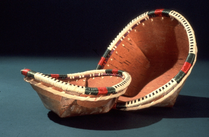 Birch bark and willow root baskets by Belle Deacon, courtesy National Endowment for the Arts