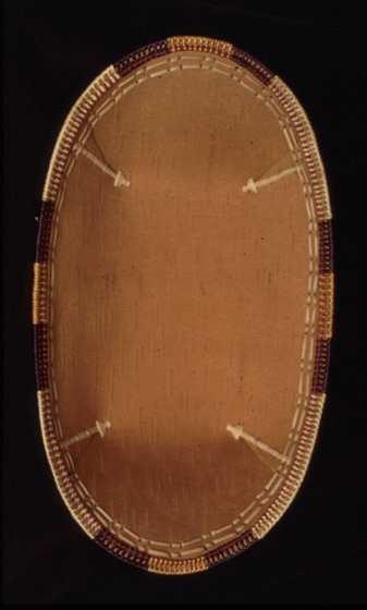 Birch bark and willow root basket by Belle Deacon, courtesy National Endowment for the Arts