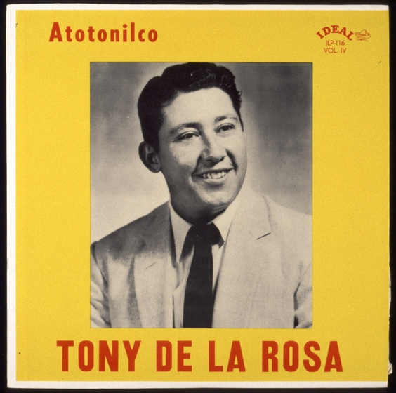 Vintage Tony De La Rosa album cover, courtesy Antonio De La Rosa