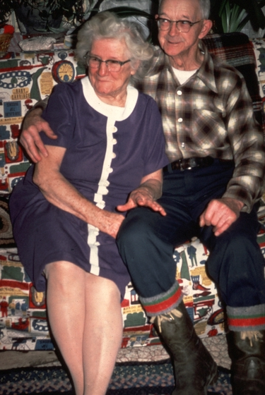 Amber and Sabin Densmore, Chelsea, Vermont, January 1983, photograph by Jane C. Beck, courtesy Vermont Folklife Center