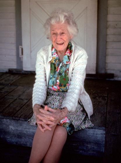 Amber Densmore, Chelsea, Vermont, June 1990, Photograph by Jane C. Beck, Courtesy Vermont Folklife Center