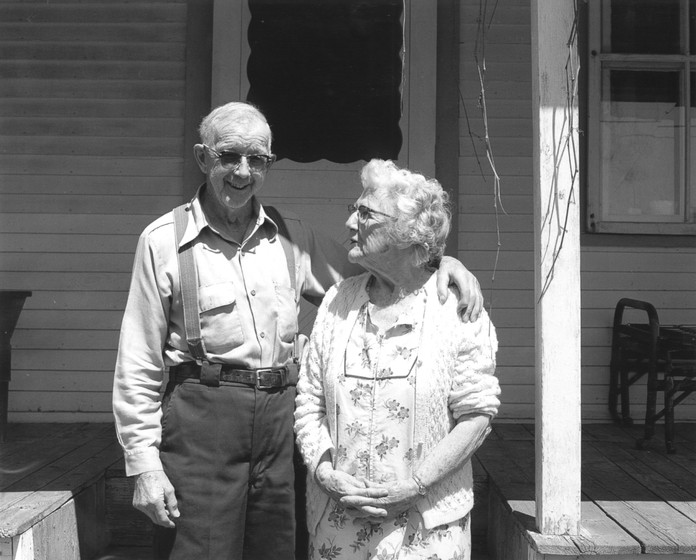 Amber and Sabin Densmore, Chelsea, Vermont, June 1987, photograph by Jane C. Beck, courtesy Vermont Folklife Center