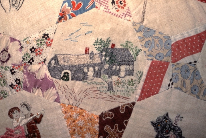 'Farm and Memory' quilt (detail) by Amber Densmore, photograph by Jane C. Beck, courtesy Vermont Folklife Center