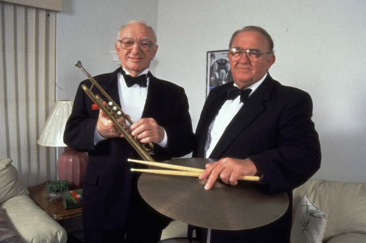William and Julius Epstein, two of the four Epstein Brothers, were popular klezmer musicians for decades. In addition to playing in this traditional Jewish style, the versatile Epsteins performed popular and jazz styles of dance music. courtesy Julius Epstein Archives
