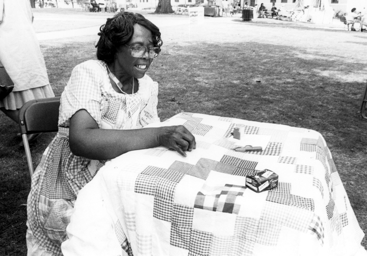Nora Ezell, Alabama Folklife Festival, 1990, photograph by Melissa Springer, courtesy Alabama State Council on the Arts
