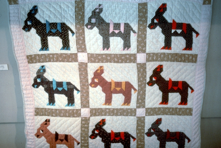 'Donkey Quilt' (detail) by Nora Ezell,  photograph by Joey Brackner, courtesy Alabama State Council on the Arts