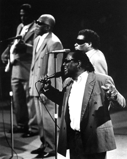 Clarence Fountain and the Blind Boys of Alabama, 1991, Photograph by Jack Vartoogian