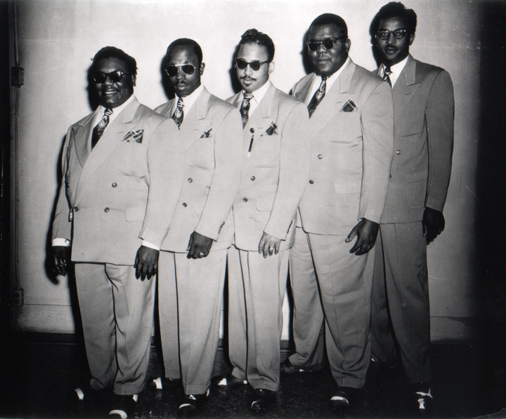 Clarence Fountain and the Blind Boys of Alabama, Courtesy Texas African American Photography Archive, Dallas, Texas