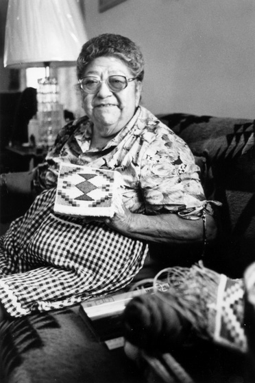 Rose Frank was an adult when she took a class in cornhusk weaving and discovered a talent for this traditional art of her tribe, the Nez Perce. Photograph by David A. Wuerth, courtesy National Endowment for the Arts