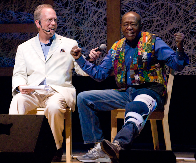 Roland L. Freeman and Nicholas R. Spitzer, 2007 National Heritage Fellowship Concert, Bethesda, Maryland, photograph by Alan Hatchett