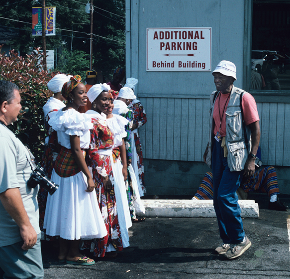 Roland L. Freeman (right), National Black Arts Festival, 1996, photograph by Alan Govenar