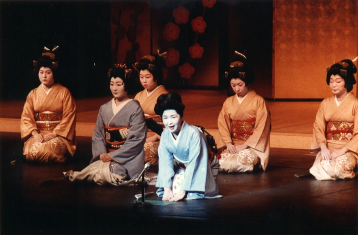 Since first opening her studio in Little Tokyo (in Los Angeles) in 1939, Madam Fujima taught more than 1,000 students, of whom a number have attained 'natori' status. 'Natori' students are those who have a attained a certain proficiency in the dance and are granted a professional name from the grandmaster in Japan. Courtesy Fujima Kansuma Kai of Los Angeles