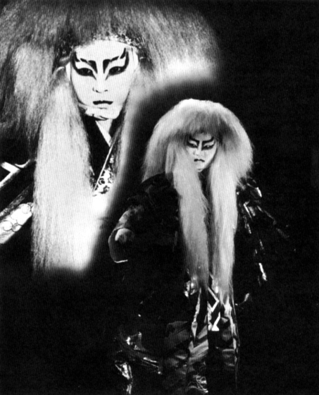 On December 22, 1970, Madam Kansuma produced and directed an evening of Kabuki dance at the Dorothy  Chandler Pavilion of the Los Angeles Music Center to a packed house. Her daughter made her 'natori' debut, dancing 'Kagamai-jishi' as had her mother at her own debut thirty years earlier in Japan. Courtesy Fujima Kansuma Kai of Los Angeles