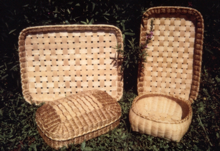 Sweetgrass and brown ash baskets by Mary Mitchell Gabriel, courtesy National Endowment for the Arts