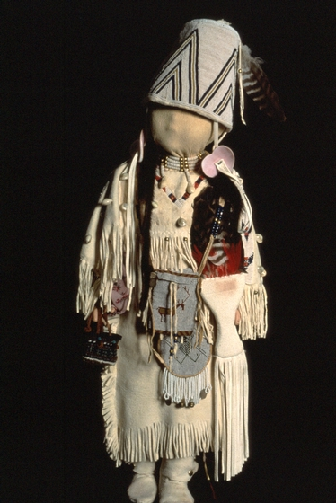 Child's outfit on mannequin by Sophia George, courtesy Oregon Folklife Program