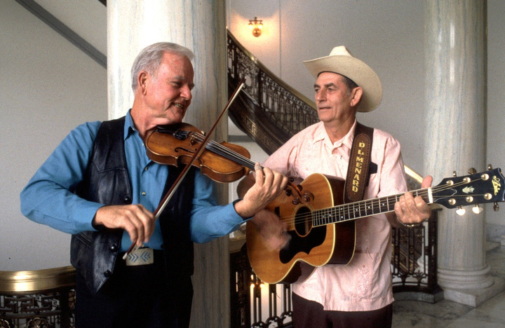 D.L. Menard and Johnny Gimble, 1994 National Heritage Fellowship Ceremonies, photograph by William K. Geiger, courtesy National Endowment for the Arts