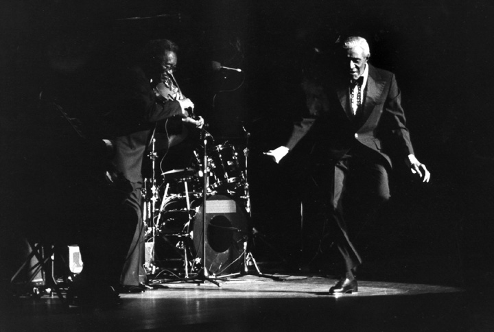 James 'Jimmy Slyde' Godbolt performs in 'Kansas City Swing and Shout' at Alice Tully Hall, New York, New York, August 8, 1991, photograph by Jack Vartoogian
