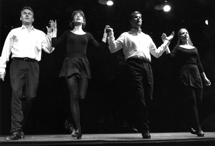 Donny Golden (far left) and dancers, 1996, photograph by Jack Vartoogian