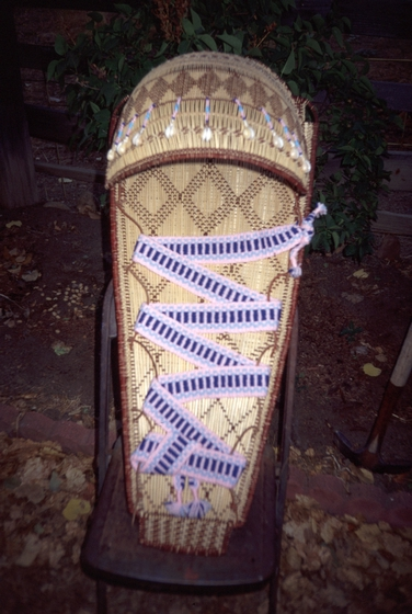 Cradle basket by Ulysses 'Uly' Goode, photograph by Ron Goode, courtesy National Endowment for the Arts