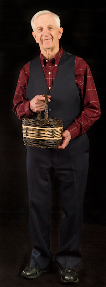 LeRoy Graber learned to weave willow baskets from his Ukrainian immigrant grandfather and demonstrated the craft for more than twenty-five years in South Dakota. Bethesda, Maryland, 2009, photograph by Alan Govenar