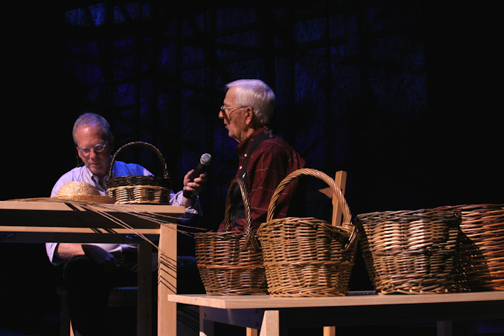 Leroy Graber and Nick Spitzer, 2009 National Heritage Fellowship Concert, Bethesda, Maryland, Photograph by Michael G. Stewart