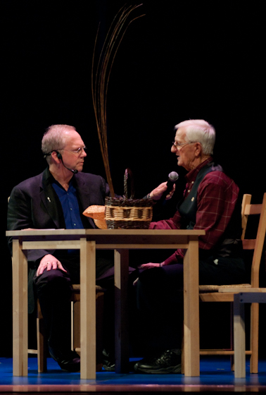 Leroy Graber and Nick Spitzer, 2009 National Heritage Fellowship Concert, Bethesda, Maryland, photograph by Alan Hatchett