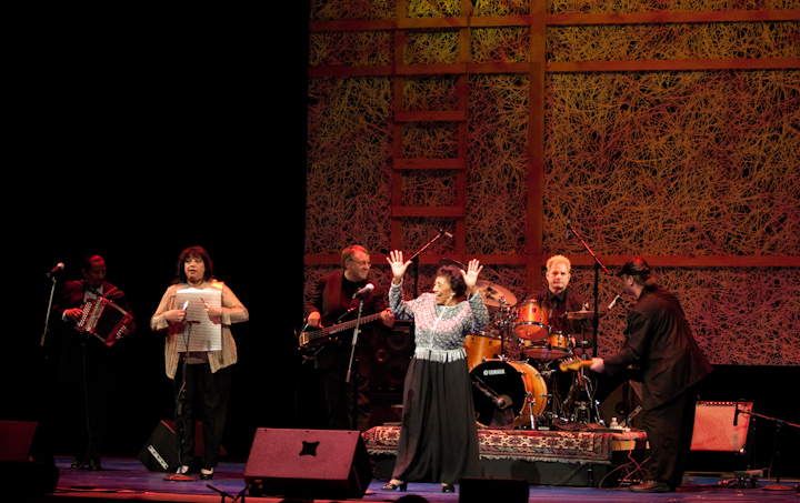 Ida Guillory and her band, 2009 National Heritage Fellowship Concert, Bethesda, Maryland, photograph by Alan Hatchett