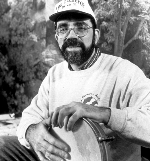 "Juan Gutiérrez  has explored deeply the Afro-Puerto Rican percussion that fascinated him as a boy in a suburb of San Juan, Puerto Rico. Since moving to New York, he has often demonstrated in schools, asking the students to ""reach out and to take our traditions in."" Photograph by Harvey Wang, courtesy National Endowment for the Arts"