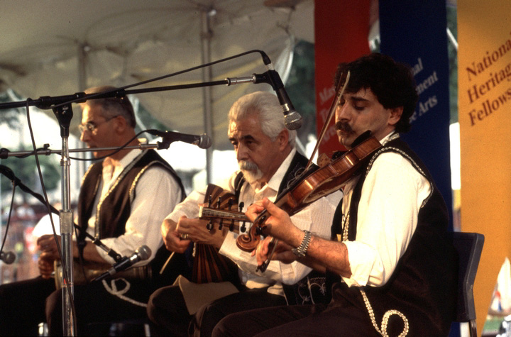 Richard Hagopian (center), 1994 Festival of American Folklife, courtesy Ralph Rinzler Folklife Archives and Collections, Center for Folklife and Cultural Heritage, Smithsonian Institution
