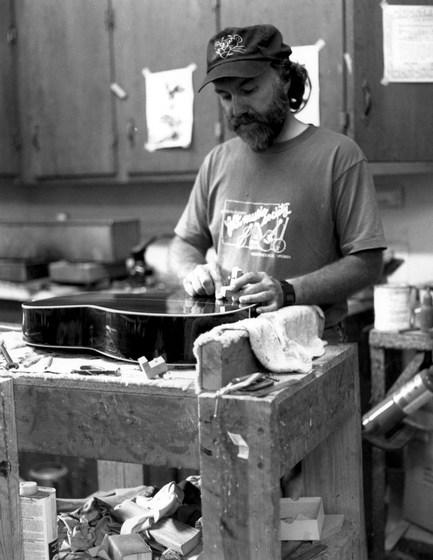 Wayne Henderson in his shop, Mouth of Wilson, Virginia, courtesy National Endowment for the Arts