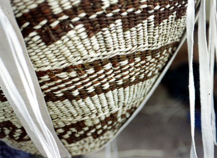 Ceremonial burden basket (detail) by Evalena Henry, courtesy National Endowment for the Arts
