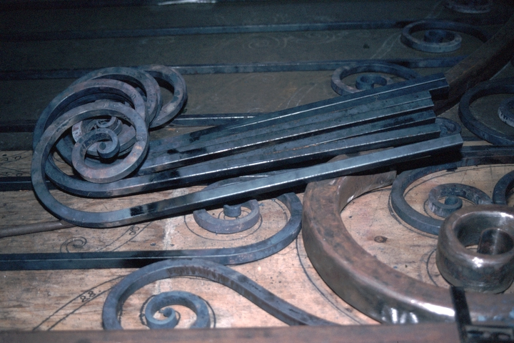 Ironwork,  Hensley & Son Forge, Spruce Pine, North Carolina, 1997, photograph by Alan Govenar