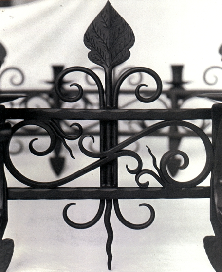 Ornamental ironwork (detail) made at Hensley & Son Forge, Spruce Pine, North Carolina, courtesy Bea Ellis Hensley
