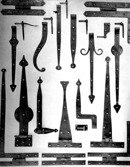 Ornamental ironwork made at Hensley & Son Forge, Spruce Pine, North Carolina, courtesy Bea Ellis Hensley