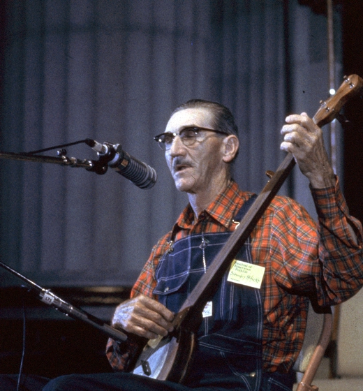 Stanley Hicks of North Carolina made banjos and dulcimers and played both instruments. He was renowned as a dancer and, like his cousin Ray Hicks, was a storyteller. Courtesy Ralph Rinzler Folklife Archives and Collections, Center for Folklife and Cultural Heritage, Smithsonian Institution
