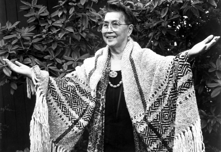 After her parents died in the 1960s, storyteller Violet Hilbert devoted herself to the preservation of her native Lushootseed language and the customs of her people in the Skagit Valley of Washington State. Photograph by Joseph Scaylea, courtesy National Endowment for the Arts