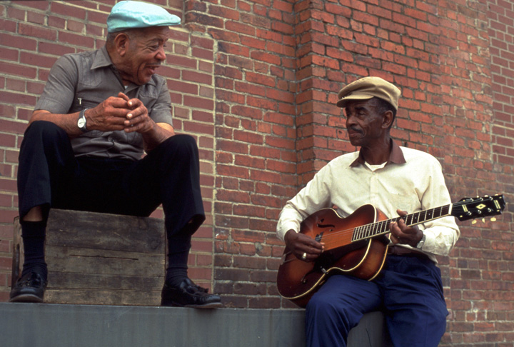 Quentin 'Fris' Holloway and John Dee Holeman, 1993, photograph by C.N. Chatterley, courtesy North Carolina Arts Council, Folklife Program