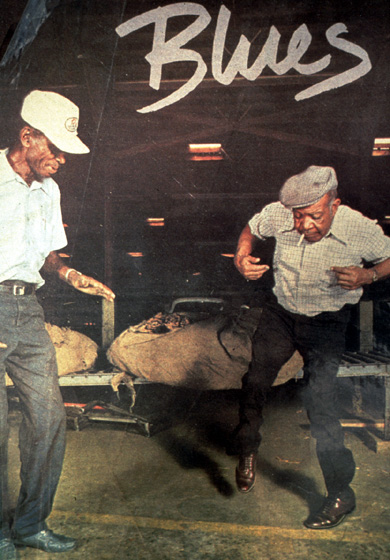 Quentin 'Fris' Holloway and John Dee Holeman demonstrate buck dancing, 1993, photograph by C.N. Chatterley, courtesy North Carolina Arts Council, Folklife Program