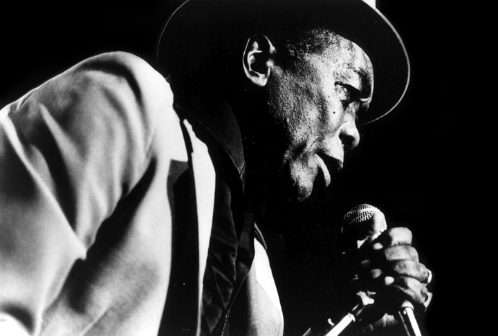 John Lee Hooker, born in the Mississippi Delta, attained great popularity as a blues singer and guitarist. Over the years Hooker adapted his musical style to changing times, playing folk blues and in later years recording with rock-oriented groups. Photograph by Marina Fusco, courtesy National Endowment for the Arts