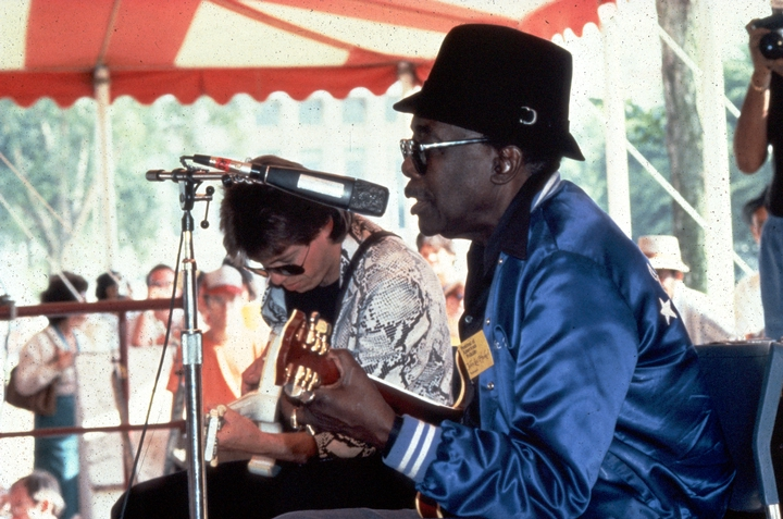 John Lee Hooker performing at the 1983 Festival of American Folklife in a program honoring the National Heritage Fellows, courtesy Ralph Rinzler Folklife Archives and Collections, Center for Folklife and Cultural Heritage, Smithsonian Institution