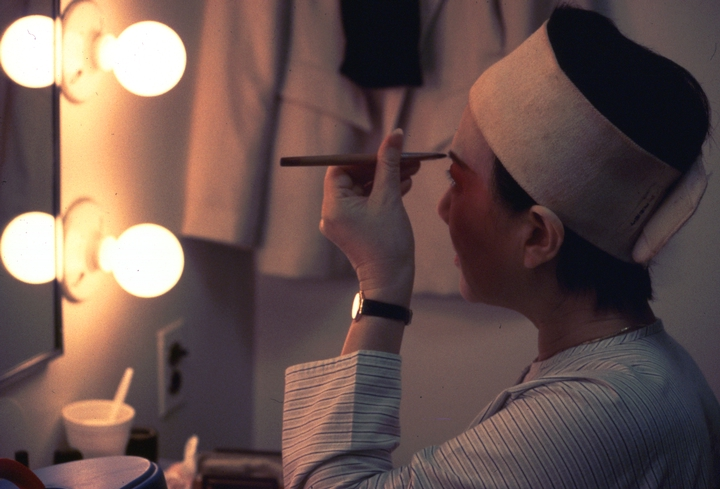 Hua Wenyi prepares for a performance, courtesy National Endowment for the Arts