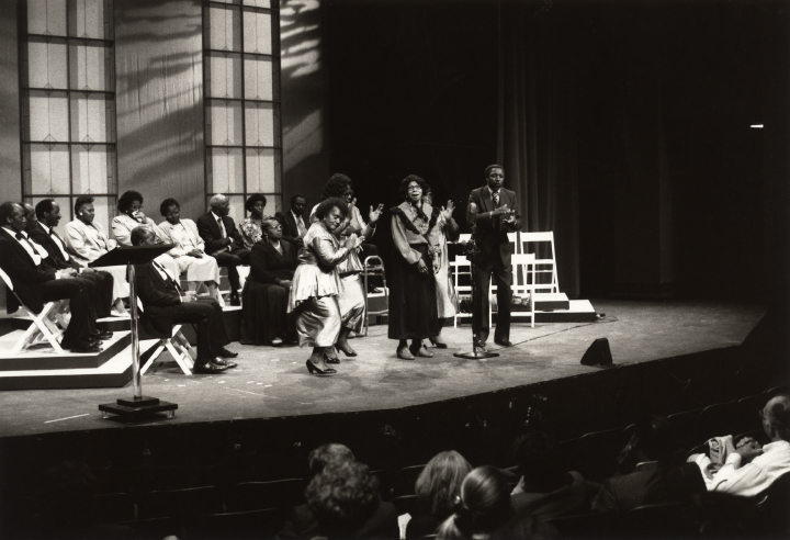 Moving Star Hall Singers in concert (Janie Hunter center), from ETV's 'A Heritage of Song,' courtesy Folklife Resource Center, McKissick Museum, University of South Carolina, Columbia, South Carolina
