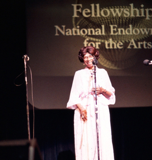 Janie Hunter at the 1984 National Heritage Fellowship Ceremonies, courtesy National Endowment for the Arts