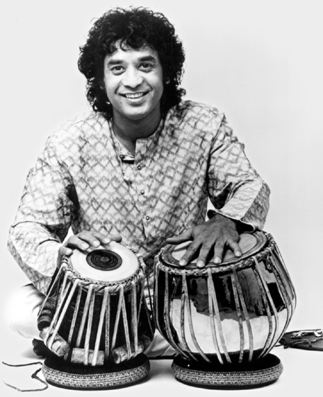 Tabla drummer Zakir Hussain has performed with some of the greatest percussionists from his native India. He made his American debut with Ravi Shankar and has collaborated with musicians as varied as the London String Quartet and Van Morrison. Courtesy National Endowment for the Arts